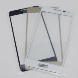 Wholesale Alpha Lens - High quality New Front Outer Glass Lens Screen Replacement For Samsung Galaxy Alpha G850 G850F G8508 with logo free shipping