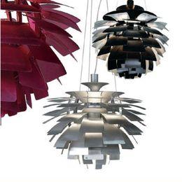 Wholesale european light switch - New European Style Modern Stylish Simplicity Aluminum 40CM Poul Henningsen PH Artichoke Ceiling Light Pendant Lamp Hanging Lighting