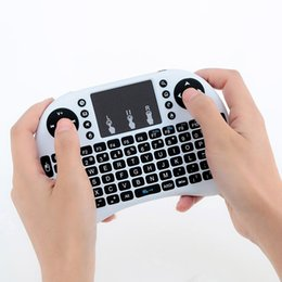 Canada 50x Wireless Keyboard Mini i8 Air Mouse Lecteur multimédia Remote Control Touchpad pour Android Smart TV Box MXIII M8 MXQ MX3 Mini PC Offre