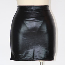 Wholesale Sexy Mini Lingerie Lady - Lady Open Hip Faux Leather Lingerie Hot Faux Leather Skirt Design Sexy Summer Black Mini Skirt for Woman W377988