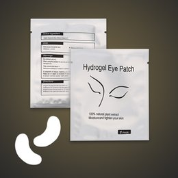 Wholesale Lint Free Eye Pads Wholesale - 2000pcs Eye Patch for Eyelash Extension Under Eye Patches Lint Free Gel Pads Moisture Eye Mask DHL Free