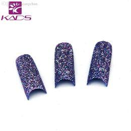 Wholesale Fake Nails Glitter - Wholesale-2015 New Acrylic 18 Colors for Choose False French Glitter fake nails Nail Art Tips Manicure 70pcs pack fashion false nails