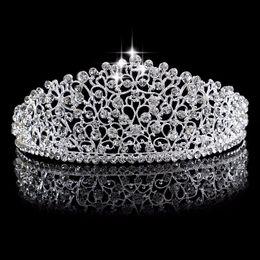 Argentina Preciosa boda romántica Crown Hairwear cristal espumoso chapado en plata nupcial tiaras Hairband accesorios tocados para la novia en stock Suministro