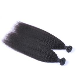 Indien Vierge de Cheveux Humains Kinky Droite Non Transformé Remy Cheveux Tisse Double Trames 100g / Bundle 2bundle / lot Peut Être Teint Blanchis ? partir de fabricateur