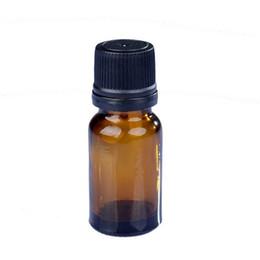 Livraison gratuite 10ML verre ambré huile essentielle bouteille jus sérum récipient 10CC petit échantillon fiole avec bouchon à vis noir ? partir de fabricateur