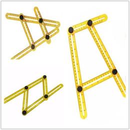 vorlage kunststoff Rabatt Multi-Angle Kunststoff Lineal Winkel-Schablone Werkzeug Winkelschablone Werkzeug Kunststoff Multi-Winkel Lineal Bodenbelag Schablone Werkzeug IA516