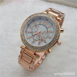 Wholesale Imitation Designer Watches - Luxury 2016 Famous designer women rhinestone watches fashion luxury Dress Michael ladies watch Imitation Conch Dial Ma'am Watches wholesale