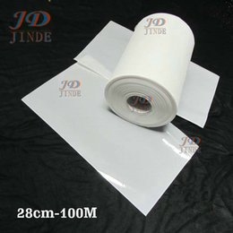 Wholesale Hotfix Paper - 3.0C 28cm-100M lot Wholesale Hotfix Tape Mylar Paper Hot Fix Transfer Paper For Sticking ss6 ss10 ss16 Stones