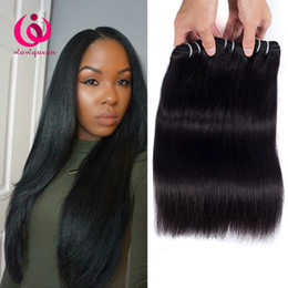 Wholesale Brazilian Extensions Prices - Brazilian Human Weave Hair Straight Weft 4Bundles Wow Queen Hair Cheap Price No Shedding Unprcoessed Brazilian Virgin Hair Extensions