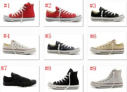 Wholesale New Court Style - HOT New big Size 35-45 High top Casual Shoes Low top Style sports stars chuck Classic Canvas Shoe Sneakers Men's Women's Canvas Shoes