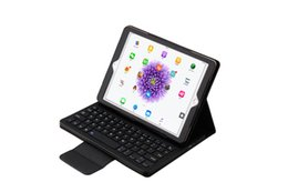 Wholesale Bluetooth Keyboard Folio Case - hot sale tablet case removeable wireless bluetooth silicone keyboard folio leather case for ipad pro 12.9 9.7 air air 2