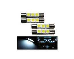 Wholesale Replacement Auto Lights - Car led 3-SMD 29mm Fuse Car Auto LED Bulb Vanity Mirror Light Sun Visor Lamp Replacement Bulbs White