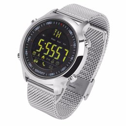 Wholesale Sms Control - 50M Waterproof Smart Sports Watch Calories Steps Walking Distance Counting Call SMS Reminder Bluetooth Watch For Android IOS Black