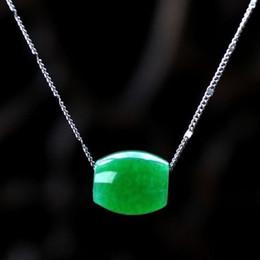 Canada Collier pendentif en jade chinois naturel sculpté à la main Offre
