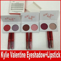 Wholesale Valentines Wear - Kylie New Kyshadow Valentines Collection Two Colors eyeshadow Palette Kylie Jenner Valentines lipstick Gift main squeeze and sweet thing