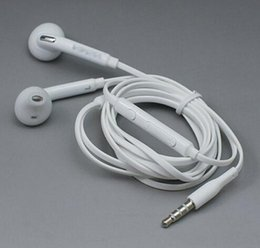 Wholesale Dj Headphones Promotion - Factory Promotion Top Quality White 3.5MM In-Ear Music Headset DJ Headphones With Mic Universal Earphone For Samsung S6 i9800 S6Edge S4 S5