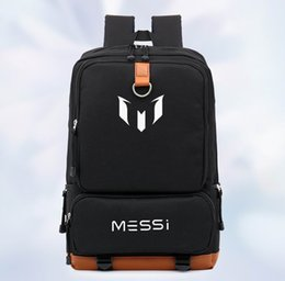 Wholesale Football Bags - barcelona messi backpack barcelona souvenir school bags boys girls designer backpack soccer football star sport travel bag