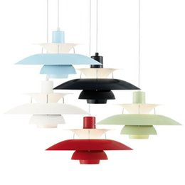 Wholesale Modern Green Lamp - 5 Colors--Modern Repro PH50 Pendant Lamp Suspension pendant 50cm ceiling Fixture Free Shipping