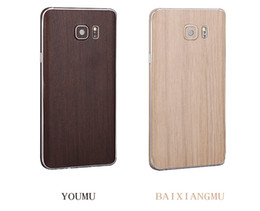 Wholesale Pvc Wood Grain - Free shipping For Samsung J7 2016 Wood sticker colorful PVC Cell Phone Sticker Protector Case Full Cover Wood Grain Soft Film Sticker