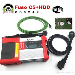 Wholesale Lexus Hdd - Mitsubishi Fuso C5 Diagnostic Kit Support WIFI Mitsubishi Fuso SD Connect Compact 5 with 2015.12 software in HDD DHL free