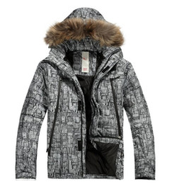 Wholesale Feather Ski Jacket - Wholesale- 2016 new original feather ski jacket,snowboard clothes Mens Outdoor Sport Waterproof Windproof Breathable Thermal coat