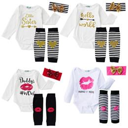 Bebé recién nacido conjunto de ropa de manga larga bebé Romper pierna  Warmer Bow Headband establece para ropa para bebés Niñas ropa de moda bebé  rebajas ... ef5788d35354