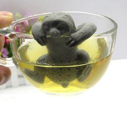 Wholesale Cute Sloth - Cute sloth tea infuser Lazy sloth food grade silicone tea strainer Loose leaf diffuser accessories Hot sale product LLFA