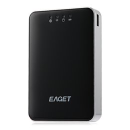 Wholesale 3g router usb - Wholesale- EAGET A86 USB 3.0 High-Speed 1TB Hard Disk With 802.11b   g   n 3G Router   Power Bank 1TB HDD