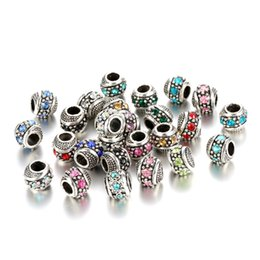 Wholesale Wholesale Loose Crystals - XZ02 Silver Plated Crystal Loose Beads charms Fit european Charm European DIY Luxurious Women Jewelry Bracelet&Necklace