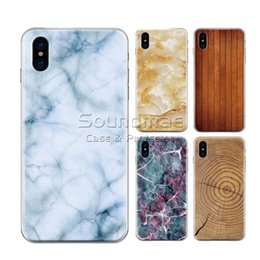 Wholesale Paint For Stone - Soft TPU Cover Painting Design Marbling Wood Texture Ultra Thin Marble Stone Wooden Grain Pattern Case For iPhone X 8 7 6 6S Plus Opp Bag