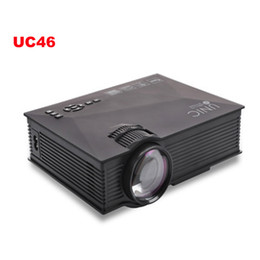 Wholesale Gaming Wireless Card - Wholesale- Wireless WIFI-display Miracast Mini Projector UC46 Portable Home Theater 1300Lumens LED Proyector USB VGA HDMI SD Card AV WiFi