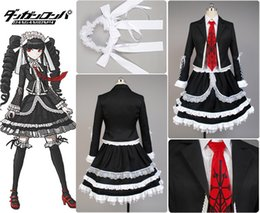 Wholesale Celestia Ludenberg Cosplay - Dangan-Ronpa Danganronpa Celestia Ludenberg Uniform Girls Top Shirt Lace Skirt Anime Halloween Cosplay Costumes For Women