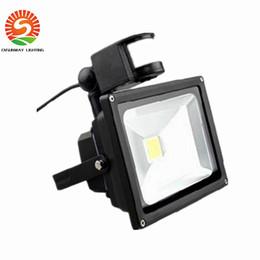 Wholesale Led Floodlights Motion Sensor - CE RoHS UL FCC Outdoor waterproof PIR Motion Sensor LED Floodlight 10W 20W 30W 50W led wall garden lights
