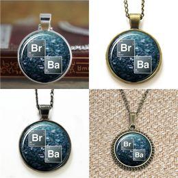 Wholesale Ba Jewelry - 10pcs Breaking bad logo jewelry blue BR BA Glass Photo Necklace keyring bookmark cufflink earring bracelet