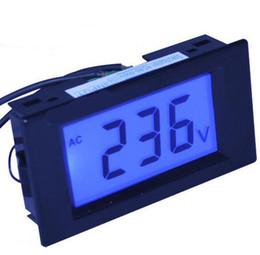 Medidor de circuito online-D6920 10 unids / lote CA 80-500 V 2 hilos Circuito Volt Meter Panel Medidor Digital Voltímetro Monitor probador con luz de fondo para equipos de prueba