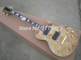 Wholesale Electric Archtop - Custom High quality gold Electric Guitar, Semi Hollow Body Archtop Guitar, Natural color, Spalted Maple Top,Real photo showing