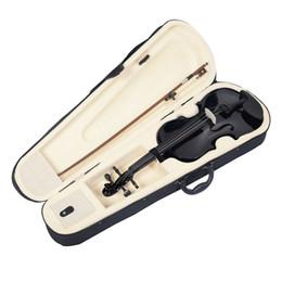 2019 partes de violino usadas Violino de violino acústico natural de tamanho total 4/4 com caso arco preto novo