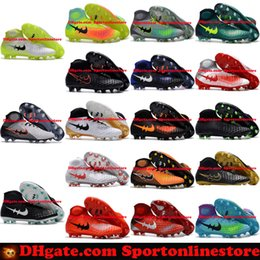 Wholesale Cheap Black Football Cleats - Magista Obra II FG Mens Football Boots Ankle High 2017 Cheap Soccer Cleats New Magistas 2 Soccer Boots Outdoor Soccer Shoes Firm Ground