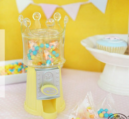 Wholesale Dispenser Candies - 2 Colors Upick--Cute Crown Shape Mini Candy Machine Dispenser Saving Coin Bank Money Storage Box Unique Gift Toy For Kids