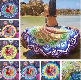 2019 tapetes de ioga ao ar livre Venda quente impressão Polygon Borlas xale Mandala Tapeçaria tapete de yoga lótus praia colorida manta xale IA536 tapetes de ioga ao ar livre barato