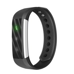 Wholesale Wrist Watch Alarm For Kids - New Brand Smart Watch ID115 Lite Braclet Fitness Tracker Step Counter Activity Monitor Alarm bluetooth ID115Lite Wristband for Android iOS