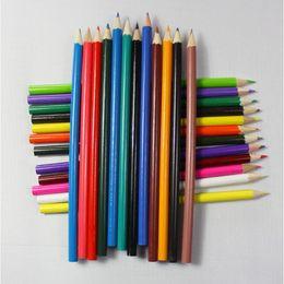 Wholesale Pencil Sketch Artists - 24-color Art Colored Pencils Drawing Pencils Wood Pencils for Secret Garden Artist Sketch Kids Gift 17.5cm Long