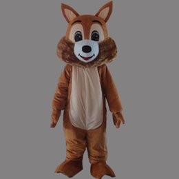 Wholesale Squirrel Mascot Adult Costume - Cute Squirrel Adult Size Mascot Costume Fancy Birthday Party Dress Halloween Carnivals Costumes With High Quality