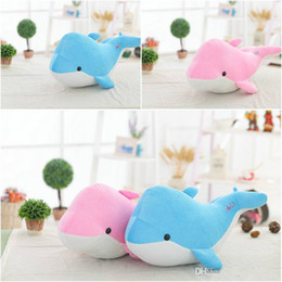 Wholesale Plush Toys Dolphin - 100 piece cute 25cm length blue and pink dolphin plush pillow soft toy,kawaii plush animal peluches stuffed toy