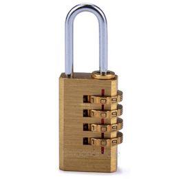 kupfer-schubladen-knöpfe Rabatt Großhandels- 4 Digit Metall Zahlenschloss Password Plus Vorhängeschloss Protable Travel und Tasche 4 Digit Passwort Vorhängeschloss