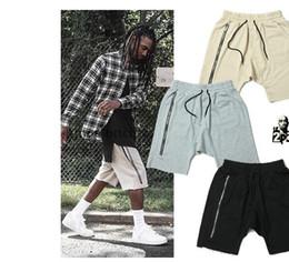 Wholesale Mouse Cross - Sponge mice Kanye West Justin Bieber Man Shorts Large Pocket Drawstring Harem Shorts Men Trousers Casual Shorts men