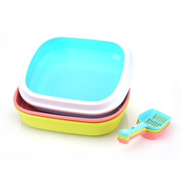Wholesale Choice Cat - Cat Litter Tray Pet Supplies Large Capacity Cat Necessities Toilet Clean Multiple Color Choices High Quality Material