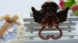flaschen für baby-dusche Rabatt Antik Kupfer Cherub Flaschenöffner kreative Cartoon Engel Wein Flaschenöffner Baby Dusche gefallen und Geschenk für Gäste