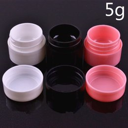 Wholesale Empty Make Up Pots Wholesale - 5g Cream Bottle ,Factory Price New Empty Clear Travelling Plastic Cosmetic Containers Bottle Make Up Cream Sample Pot Jar JF-090