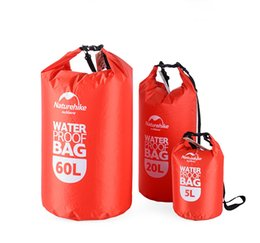 Wholesale Camping Hiking Storage - Free Shipping Outdoor Travel Clothing Waterproof Bag With Transparent Window Waterproof Bag Bucket Sealed Beach Swimming Bag 5L 20L 60L